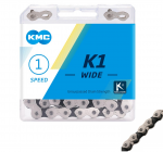 KMC K1 Wide Silver/Black Track Chain